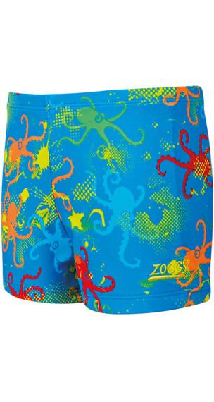 Zoggs Octopus Fever Hip Racer Boys Blue Multi